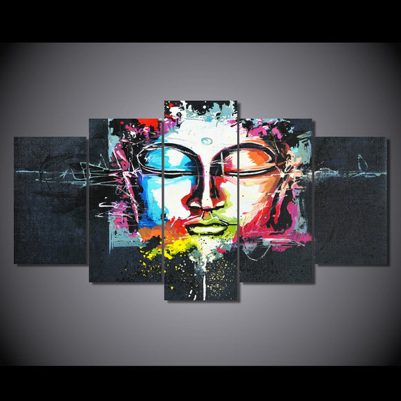 Abstract Buddha Print on canvas room deco print poster picture canvas - ASH Wall Decor - Wall Art Canvas Panel Print Painting