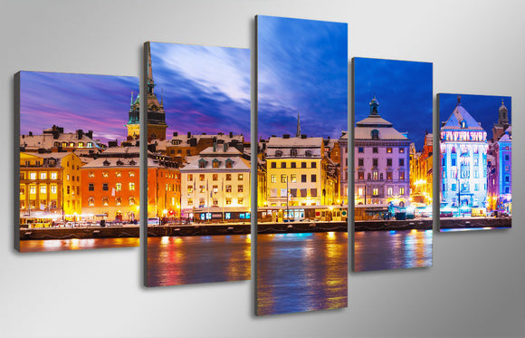 Stockholm Sweden Canvas Wall Art Print - ASH Wall Decor - Wall Art Picture Painting Canvas Living Room