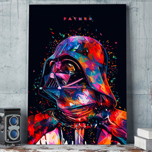 1 panel canvas art wall art Star Wars Father Darth Vader poster and print : cheap canvas prints wall paintings pictures