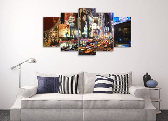 New York City Abstract Painting Style Print on Canvas - ASH Wall Decor - Wall Art Picture Painting Canvas Living Room
