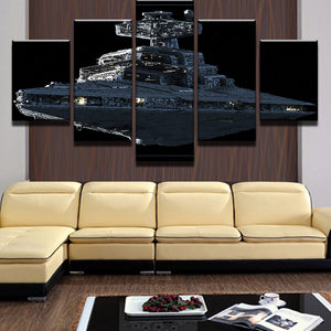 Star Wars Imperial Battleship Star Destroyer Wall Decor Canvas Picture Art - ASH Wall Decor - Wall Art Canvas Panel Print Painting