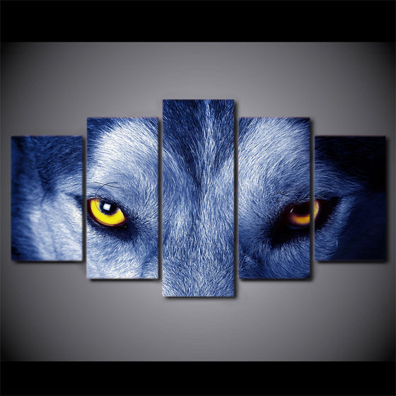 Wolf Eyes Wall Art on Canvas Print room decor print poster - ASH Wall Decor - Wall Art Picture Painting Canvas Living Room