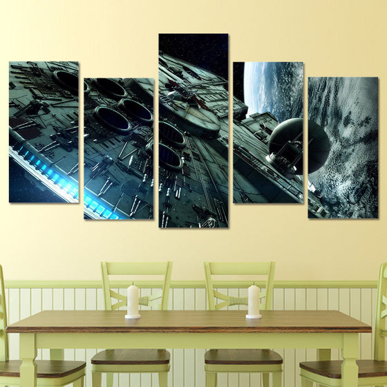 Star Wars Millennium Falcon Canvas Wall Art - ASH Wall Decor - Wall Art Picture Painting Canvas Living Room