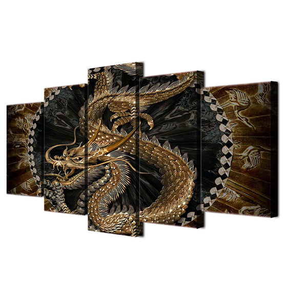Chinese dragon wall art canvas decor wall art framed unframed - ASH Wall Decor - Wall Art Picture Painting Canvas Living Room