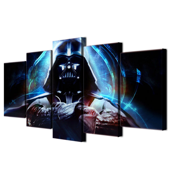 5 piece Star Wars canvas wall art Darth Vader - ASH Wall Decor - Wall Art Picture Painting Canvas Living Room