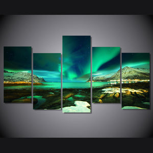 islands Norway landscape wall art on canvas water aurora wall art canvas : cheap canvas prints wall paintings pictures