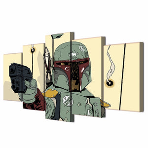Star Wars Comics Comic 5 piece Panel Picture Print Wall Art on Canvas Poster : cheap canvas prints wall paintings pictures