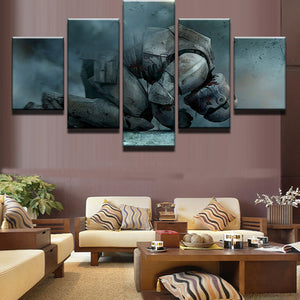 5 Panel Stormtrooper Kneeling White Soldier Star Wars Canvas Wall Art Picture