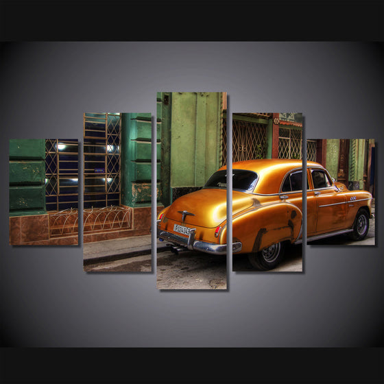 Retro city car on canvas room decoration - ASH Wall Decor - Wall Art Picture Painting Canvas Living Room