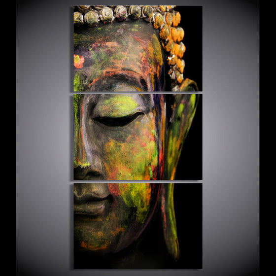 3 piece canvas wall art Buddha meditation canvas - ASH Wall Decor