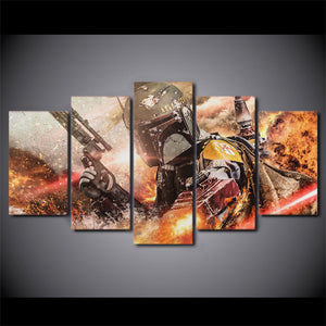 Star Wars 5 piece Wall Art on Canvas : cheap canvas prints wall paintings pictures