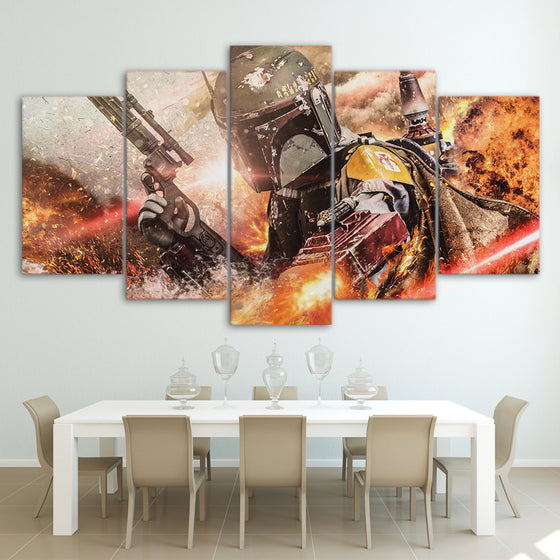 Star Wars 5 piece Wall Art on Canvas - ASH Wall Decor - Wall Art Picture Painting Canvas Living Room