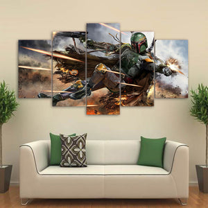 Star Wars 5 piece picture wall art room decor print poster picture canvas : cheap canvas prints wall paintings pictures