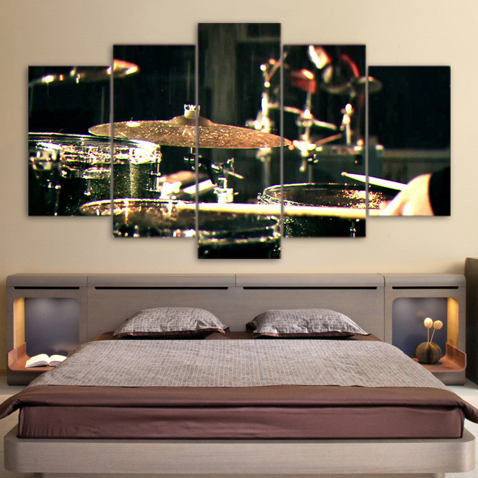 Drums and Cymbals Musical Instrument Wall Art Canvas Panel Art ...