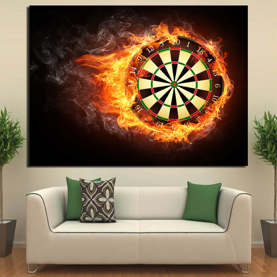 Dart Board Darts Poster Wall Art Home Decor Canvas Panel Picture
