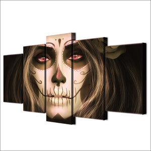 Dead Face Painting 5 Panel Wall Art on Canvas Print Poster Framed UNframed - ASH Wall Decor - Wall Art Canvas Panel Print Painting