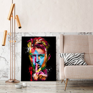 David Bowie Rock Roll Abstract Wall Art Print on Canvas Framed UNframed : cheap canvas prints wall paintings pictures