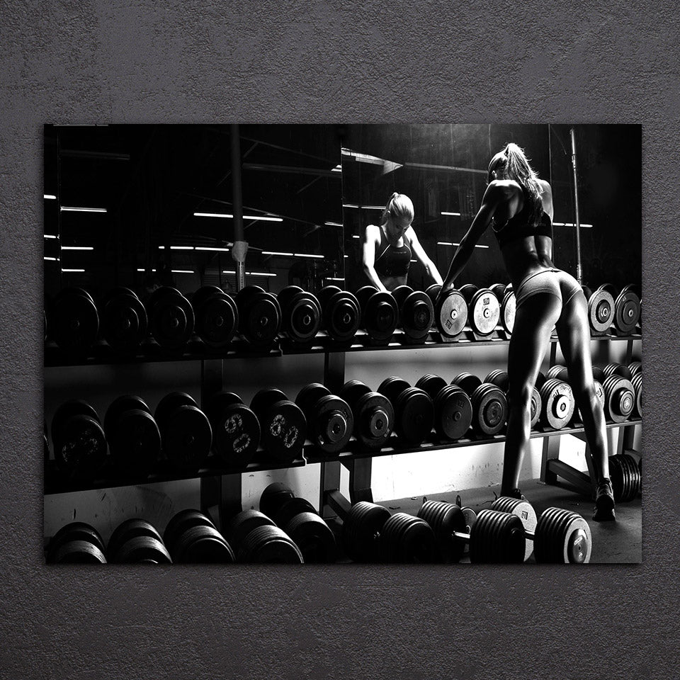 Canvas Art Inspirational Bodybuilding Equipment Fitness Printed Wall Home Decor