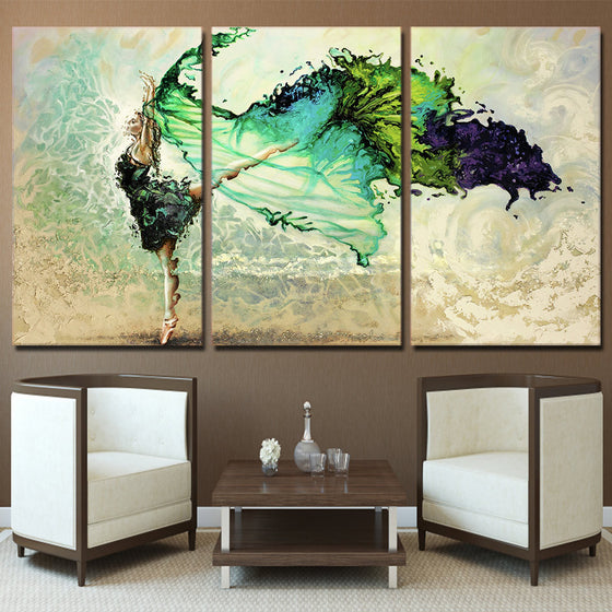 3 piece canvas art girl dancing canvas for living room wall - ASH Wall Decor - Wall Art Picture Painting Canvas Living Room