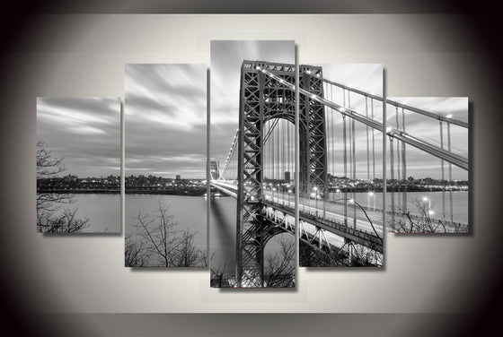 George Washington Bridge Canvas Wall Art Print - ASH Wall Decor - Wall Art Picture Painting Canvas Living Room