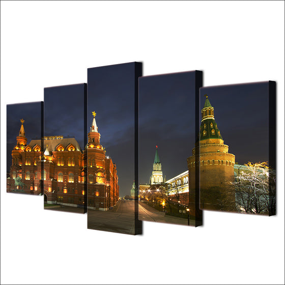 Moscow Russia Kremlin city wall art picture on canvas print - ASH Wall Decor - Wall Art Picture Painting Canvas Living Room