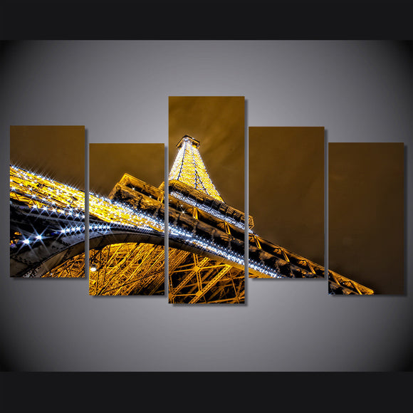 Glittering Night in Paris - Eiffel Tower at Night Canvas Wall Art - ASH Wall Decor - Wall Art Picture Painting Canvas Living Room