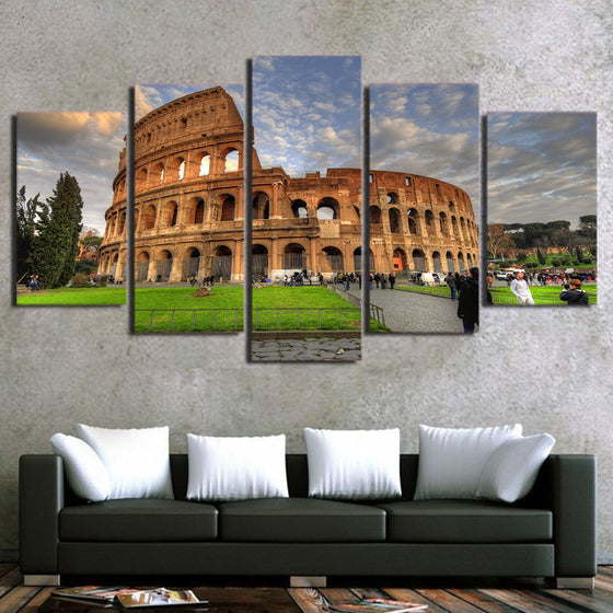 Ancient Rome Colosseum 5 piece Canvas Art - ASH Wall Decor - Wall Art Picture Painting Canvas Living Room