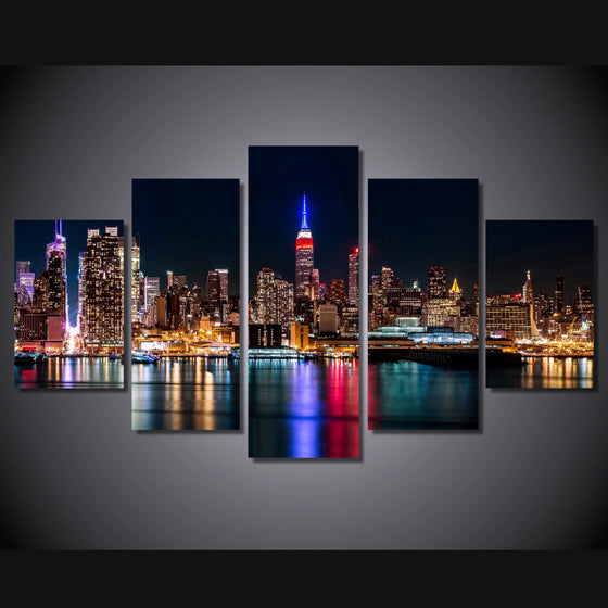 Brooklyn Manhattan New York Wall Art on Canvas Print - ASH Wall Decor - Wall Art Picture Painting Canvas Living Room