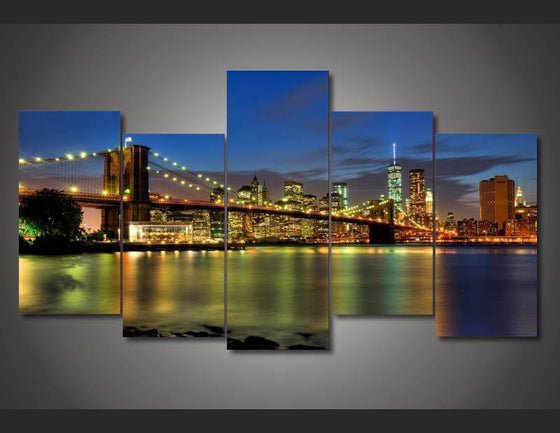 New York City bridge canvas wall art print - ASH Wall Decor - Wall Art Picture Painting Canvas Living Room
