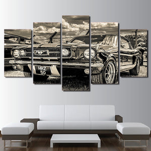 1965 Ford Mustang Painting Wall Art Canvas Print : cheap canvas prints wall paintings pictures