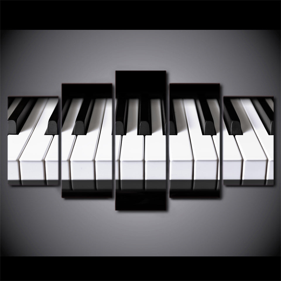 Music Wall Art   Piano Keys Wall Art Panel Picture On Canvas   ASH Wall  Decor