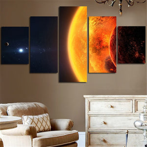 Milky Way Earth Planet Wall Decor Canvas Art On Canvas Print For Living Room : cheap canvas prints wall paintings pictures