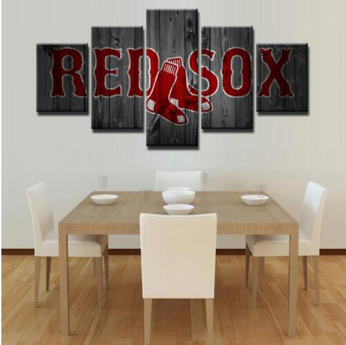 Boston Red Sox Wall Art Canvas Home Decor 5 Panel Print Rhashwalldecor: Canvas Home Decor At Home Improvement Advice
