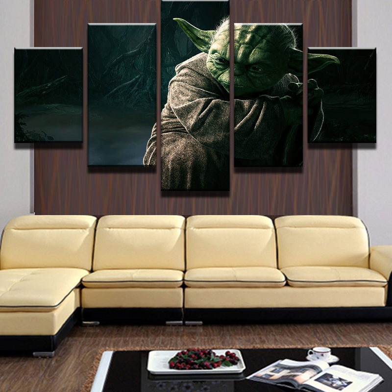 Star Wars Master Yoda Wall Art Picture Home Wall Decor Print on ...