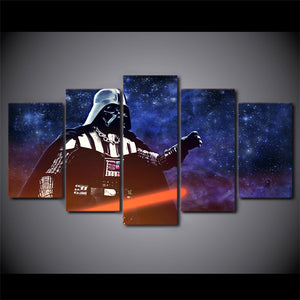 5 Pcs Canvas Art Star Wars Darth Vader Printed Wall Art Canvas Panel Print : cheap canvas prints wall paintings pictures