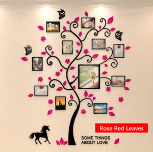 Colorful Family Picture Tree 3D Acrylic Decoration Wall Sticker DIY Art Wall : cheap canvas prints wall paintings pictures