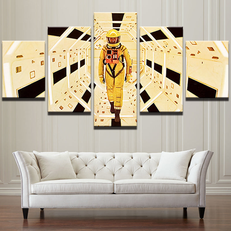 5 Panel A Space Odyssey Movie Character Modern Wall Art Print | ASH ...