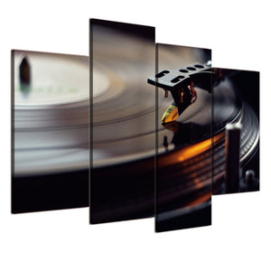 4 piece panel canvas art Vinyl Disk Record Canvas Print music poster Wall Pictur : cheap canvas prints wall paintings pictures