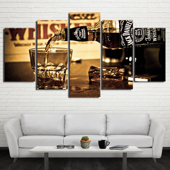 Jack Daniels Whiskey Drink poster panel wall art on canvas picture for living room