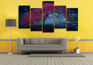 Tree Light Purple Autumn Leaves Picture  Print Wall Art Canvas room decor : cheap canvas prints wall paintings pictures