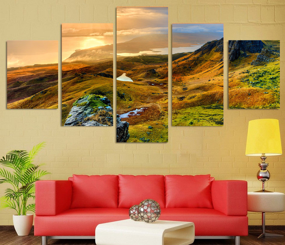 Isle of Skye Scotland Canvas 5 Pcs Panel Art Print Wall Art Canvas ...