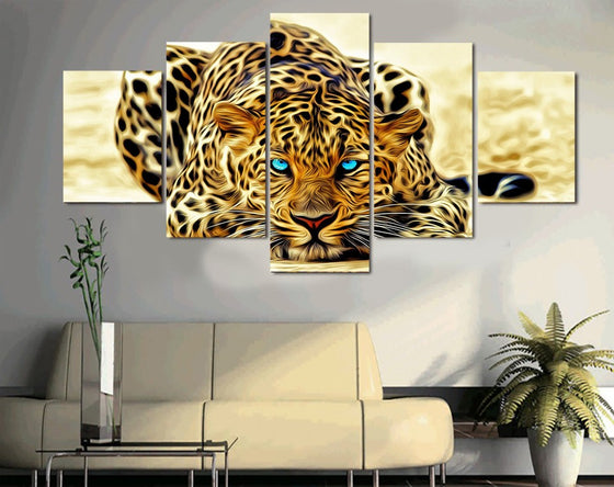Tiger Panel Print Wall Art on Canvas Framed UNframed - ASH Wall Decor - Wall Art Picture Painting Canvas Living Room