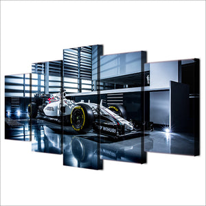 5 piece canvas panel print picture art modern race car Indy F1 car : cheap canvas prints wall paintings pictures