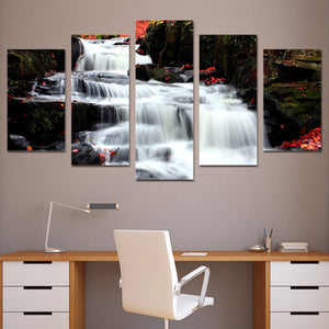 5 piece canvas art paintings white waterfall wall art on canvas Framed UNframed : cheap canvas prints wall paintings pictures