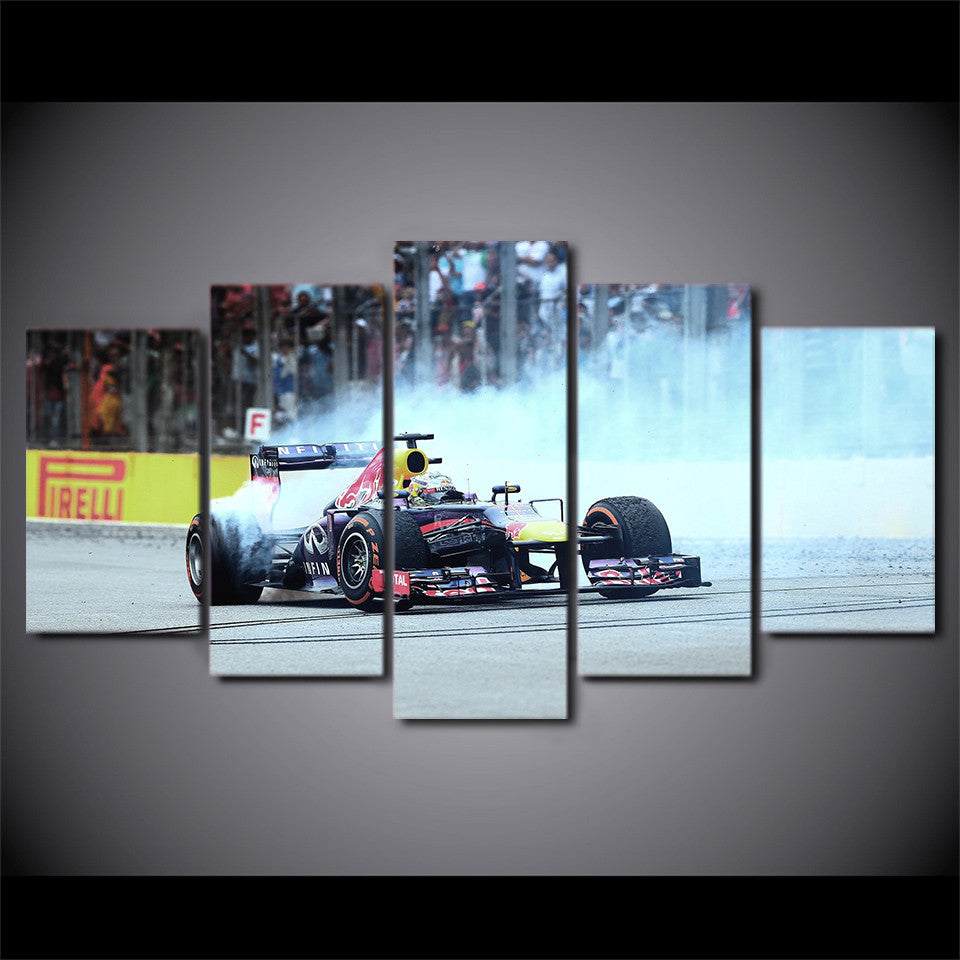 Indy race car F1 burnout wall art - ASH Wall Decor