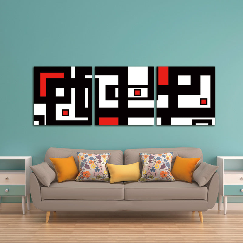 Genial Red Black White Design Modern Abstract Wall Art Decor For Living Room :  Cheap Canvas Prints