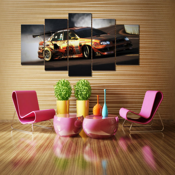 Rally Race Car 5 piece wall art - ASH Wall Decor