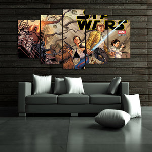 HD Printed Star Wars comic wall art print on canvas room Canvas Panel Print : cheap canvas prints wall paintings pictures