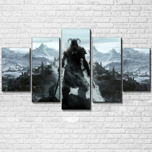 The Elder Scrolls V: Skyrim 5 panel wall art on canvas picture poster