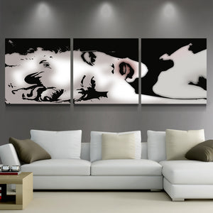 Sexy Marilyn Monroe Black White Abstract Canvas Panel Wall Art Picture Print : cheap canvas prints wall paintings pictures